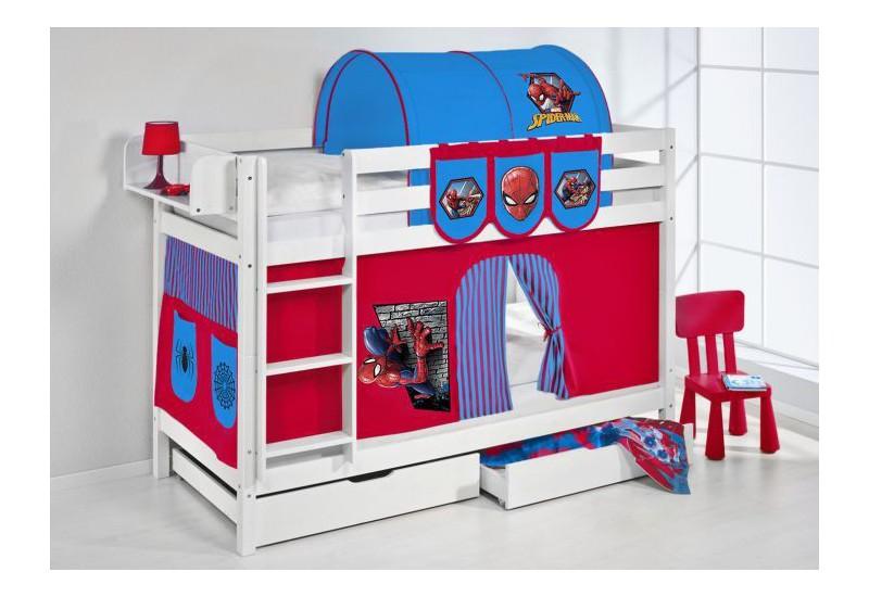 Literas caballeros y princesas blanca con cortinas spiderman2 oferta dos somiers gratis - Caballeros y princesas literas ...